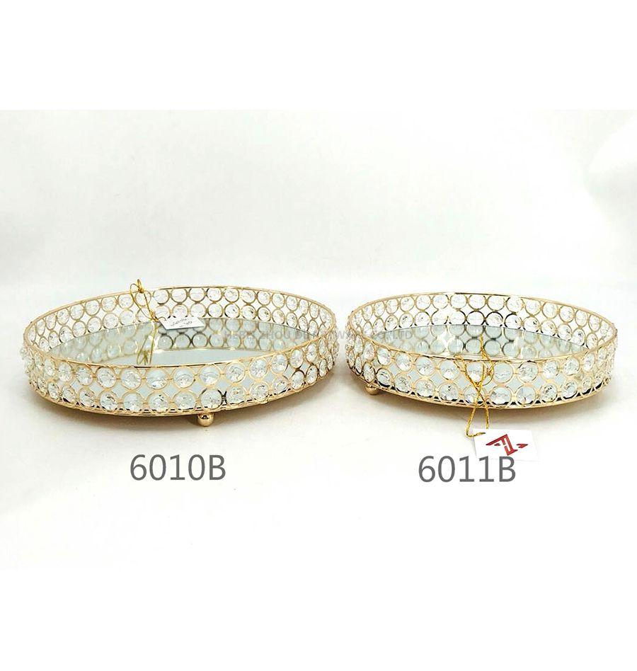 golden 6010B 6011B crystal metal tray