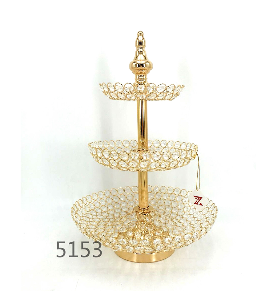 golden 5153 crystal metal fruit plate