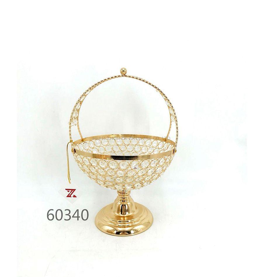 golden 60340 crystal metal fruit plate