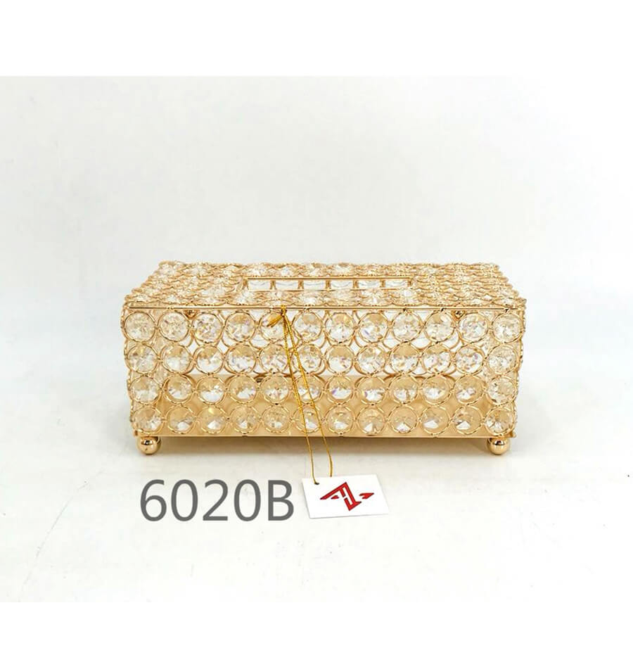 golden 6020B crystal metal tissue box