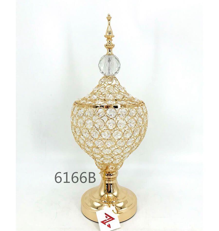 golden 6166B crystal metal candy pot