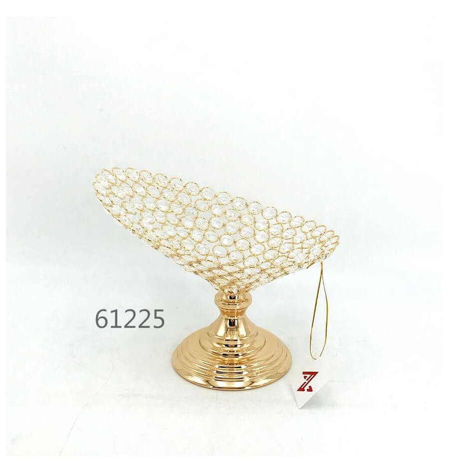 golden 61225 crystal metal fruit plate