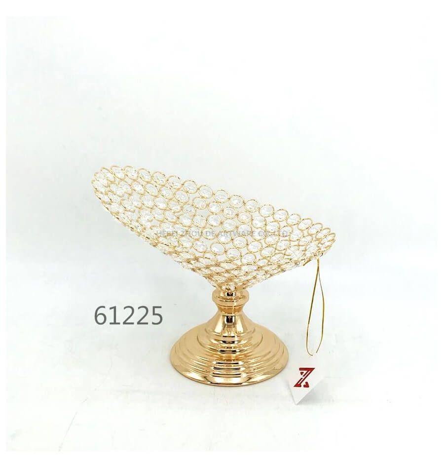 golden 61225 crystal metal fruit plate