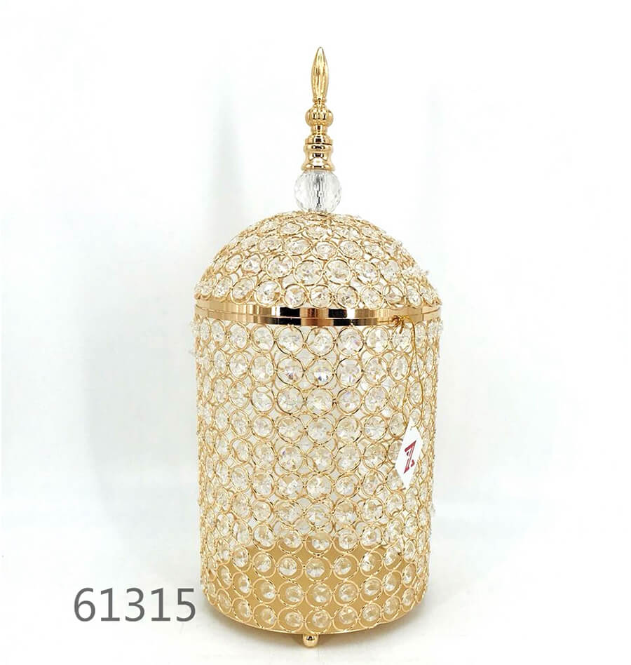 golden 61315 crystal metal candy pot