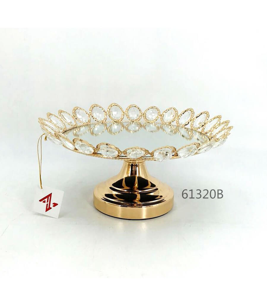 golden 61320B crystal metal tray