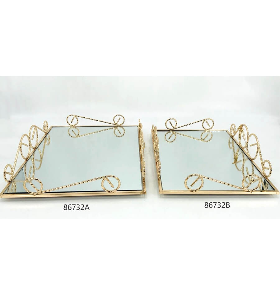 golden 86732A 86732B metal tray