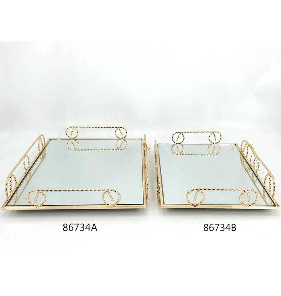 golden 86734A 86734B metal tray