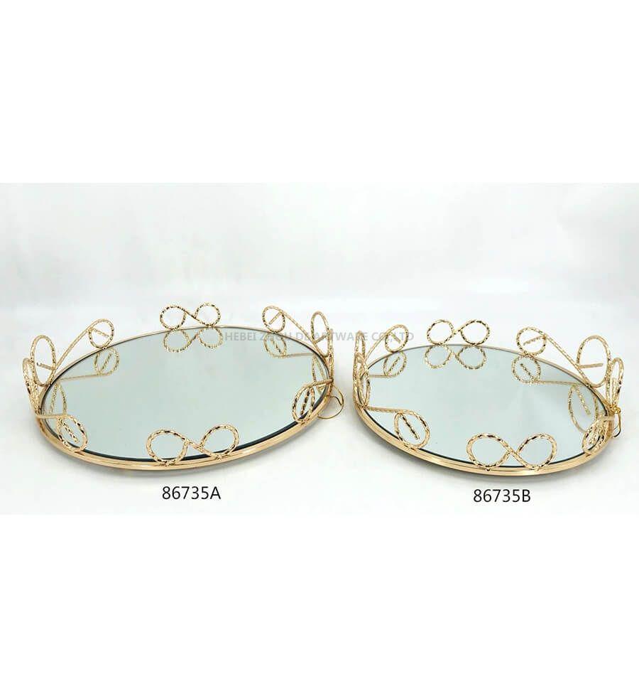 golden 86735A 86735B metal tray
