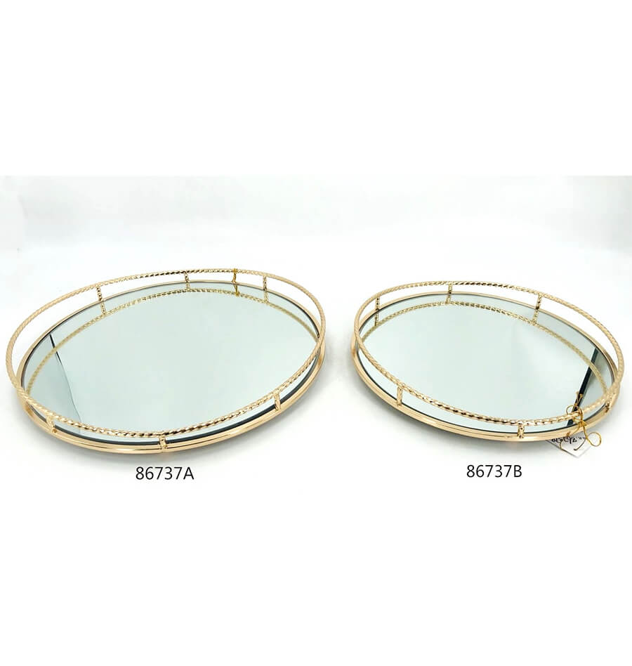 golden 86737A 86737B metal tray