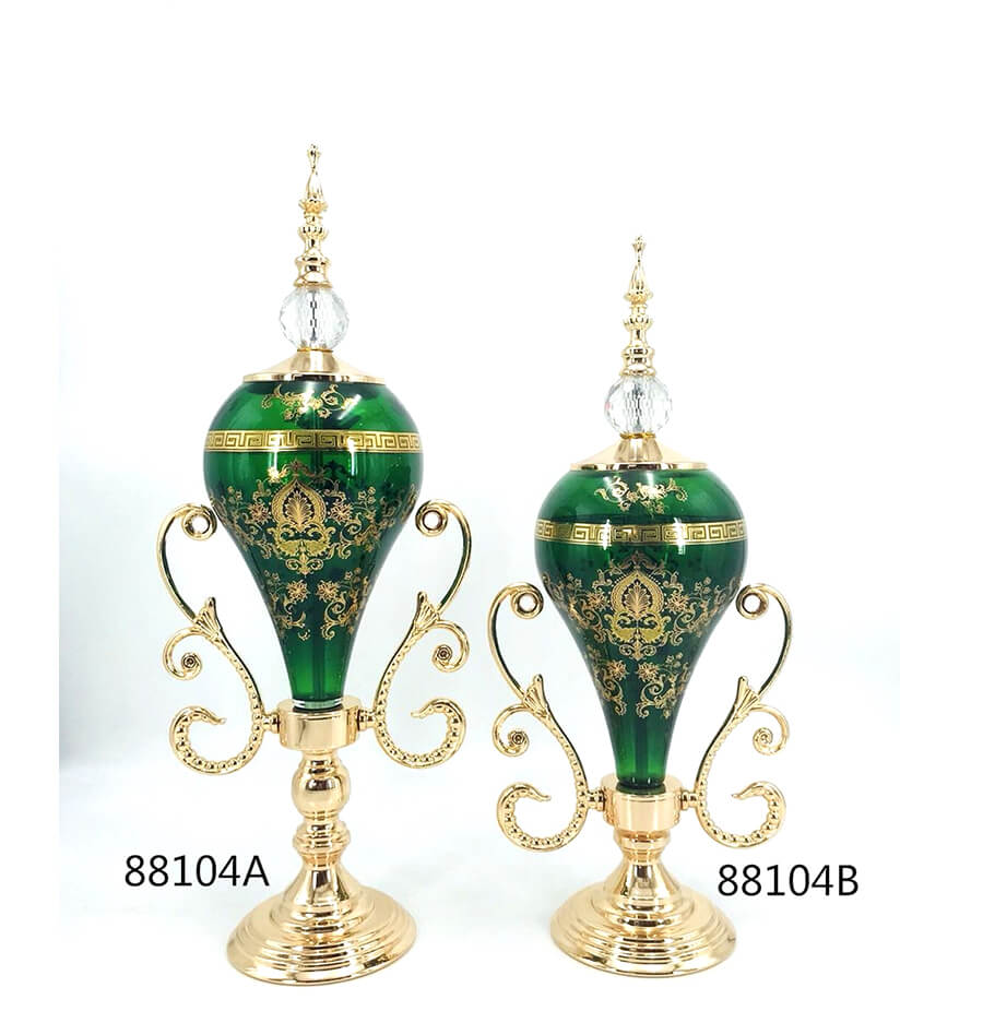 green 88104A 88104B glass decoration