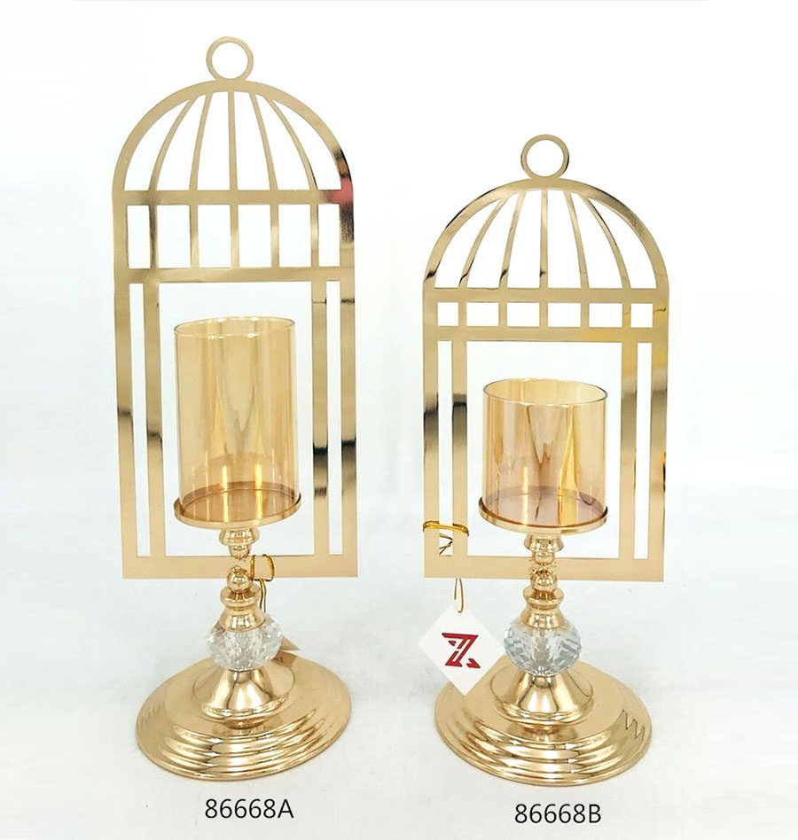 golden Candle Holder from China 86668