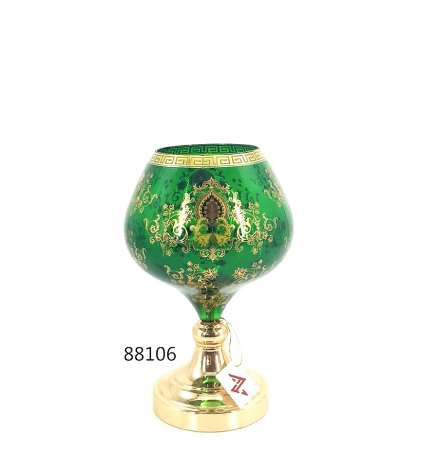 fashion hot sale green glass candy pot