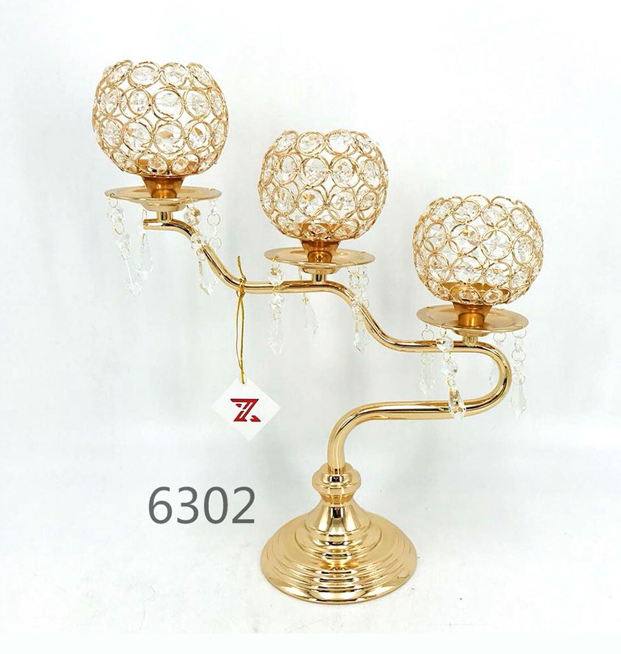 golden 6302 Crystal Candle Holder