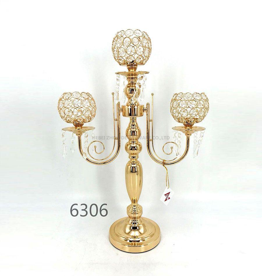 golden 6306 Crystal Candle Holder