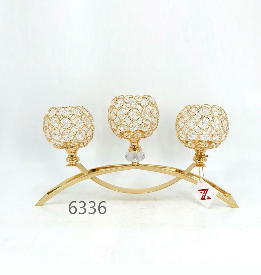 golden 6336 Crystal Candle Holder