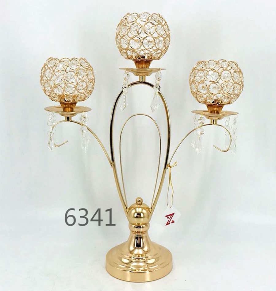 golden 6341 Crystal Candle Holder