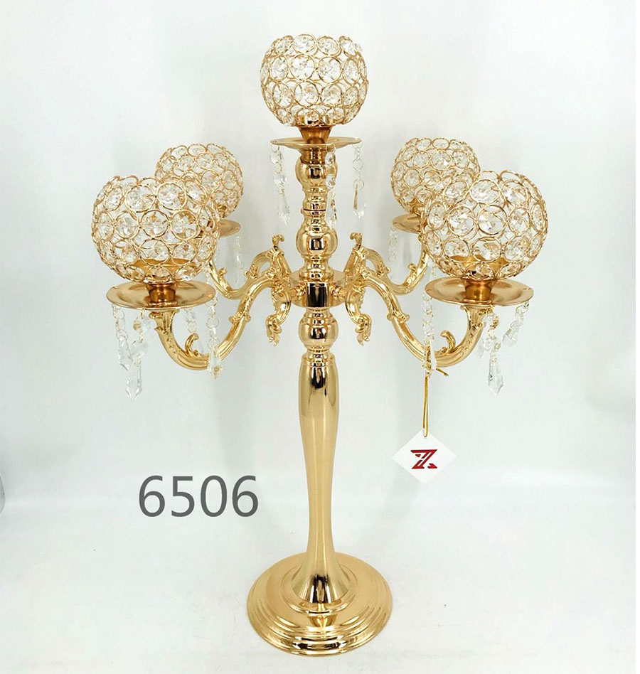 golden 6506 Crystal Candle Holder