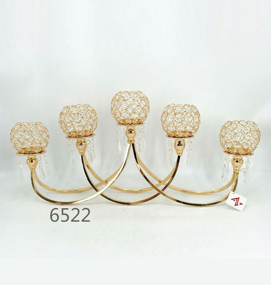 golden 6522 Crystal Candle Holder