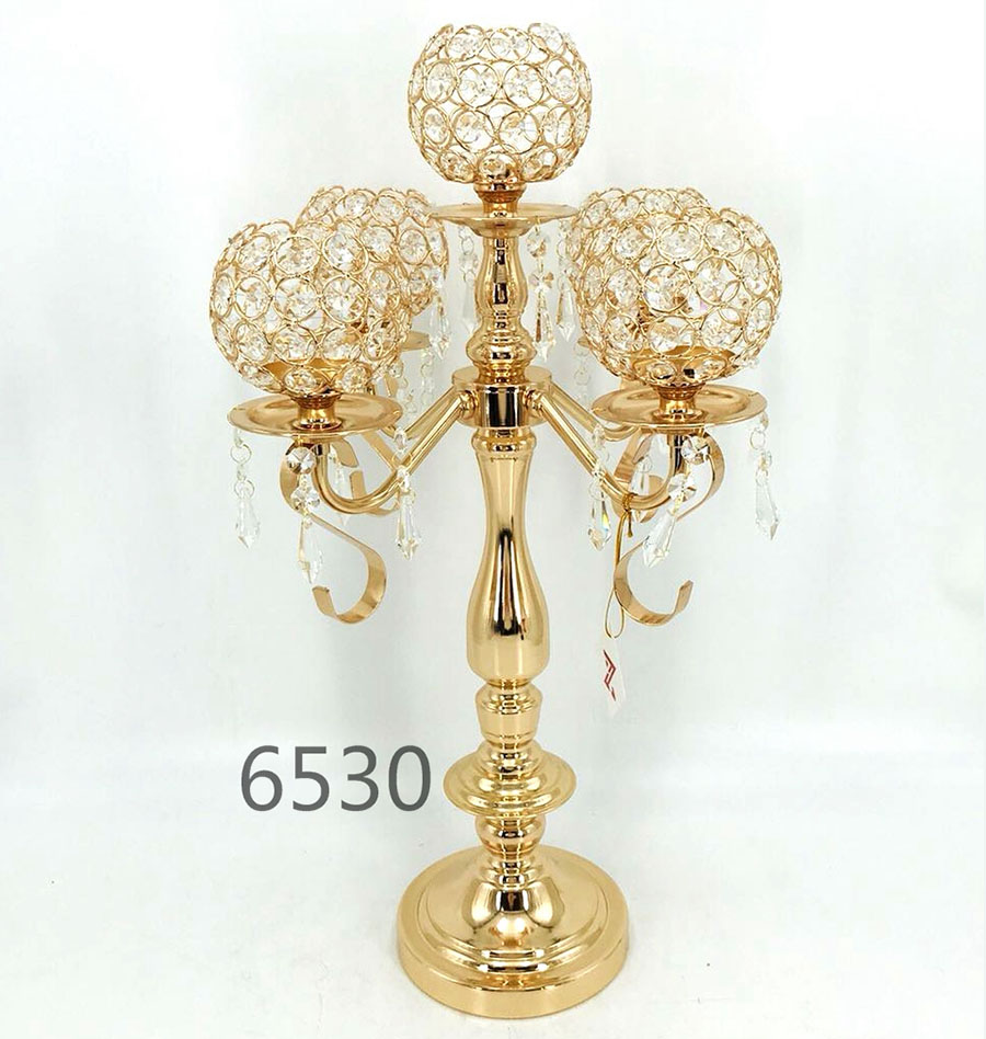 5 arms crystal Crystal Candle Holder 6530