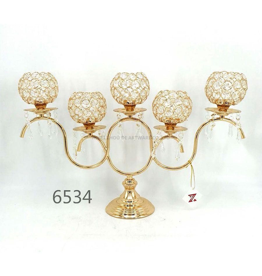 golden 6534 Crystal Candle Holder