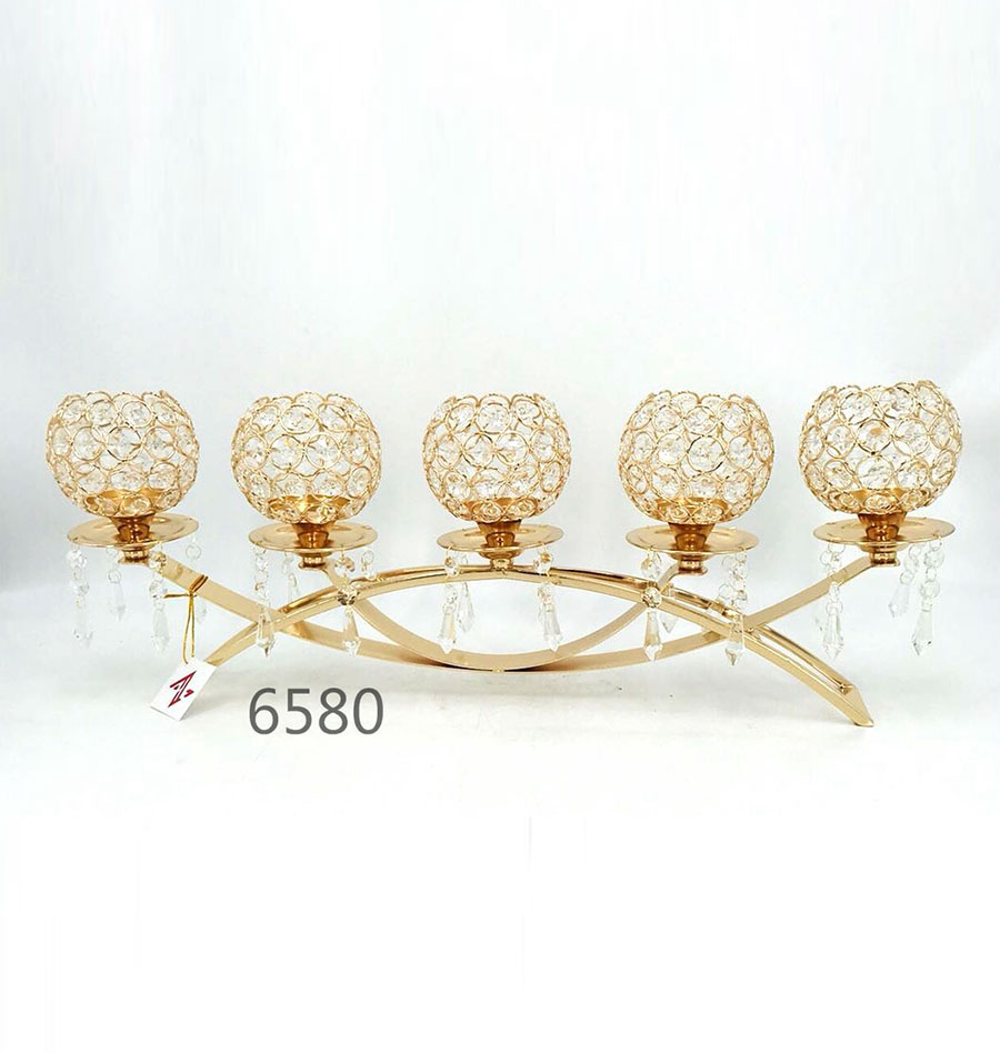 golden 6580 Crystal Candle Holder