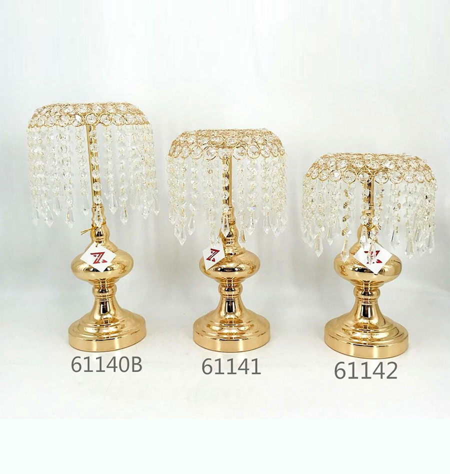 golden 61140B 61141 61142 Crystal Candle Holder