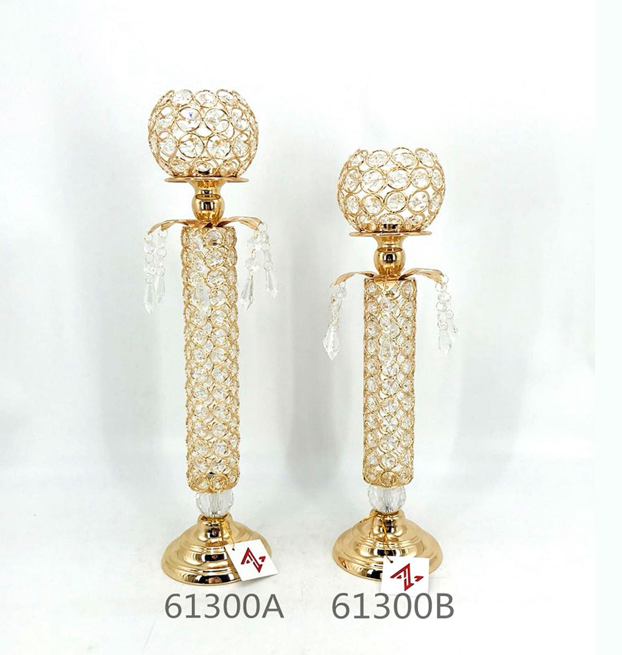 golden 61300A 61300B Crystal Candle Holder