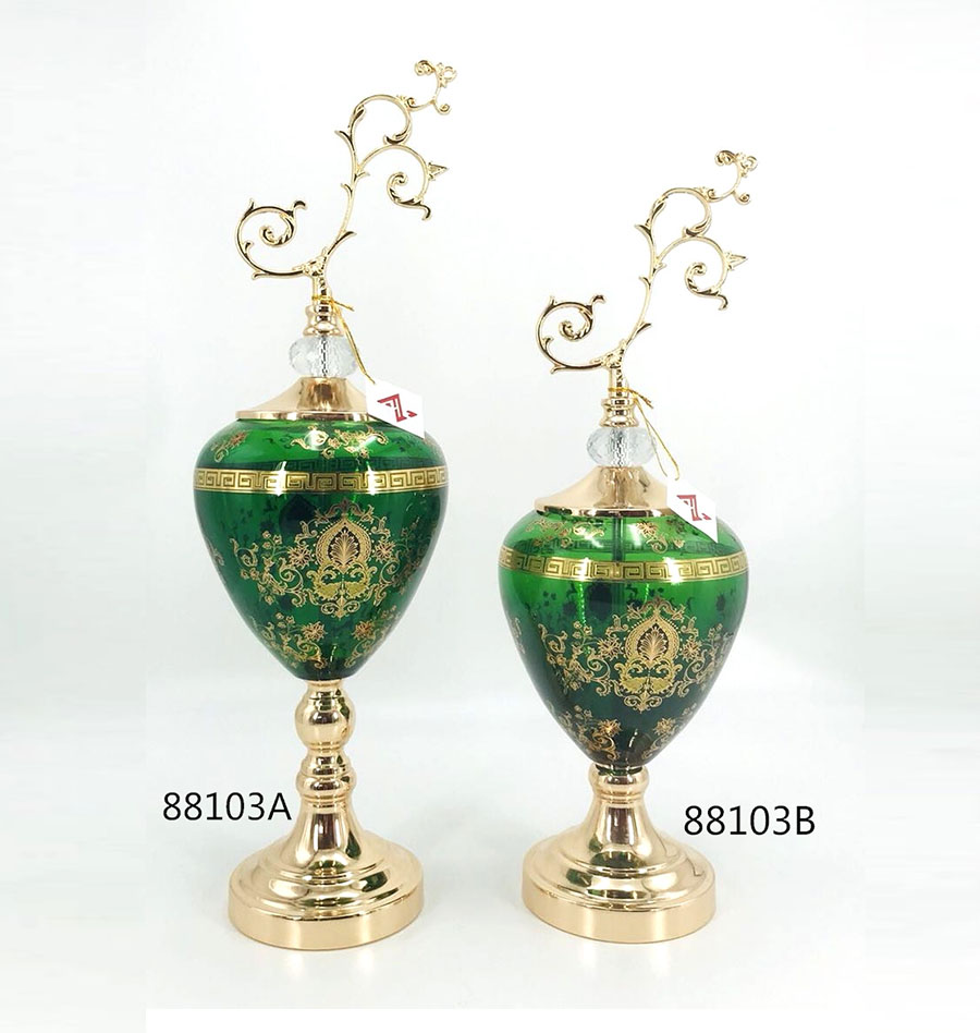 least design green glass home decoration gift