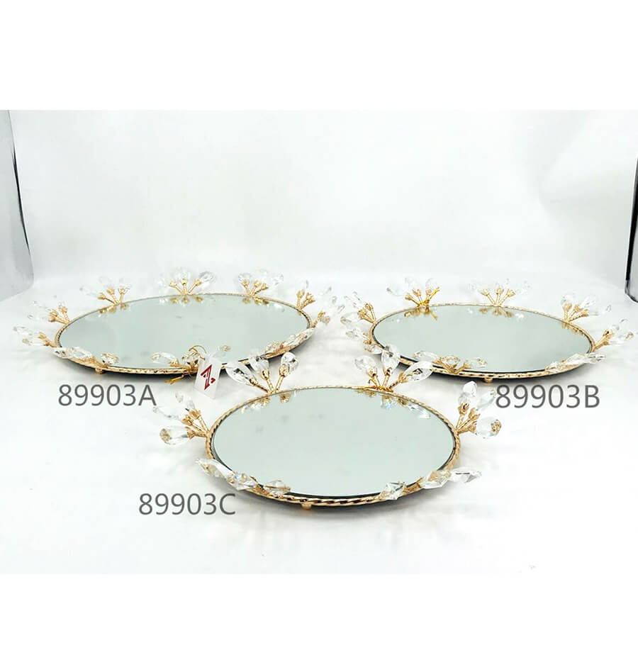metal crystal tray 89903A 89903B 89903C