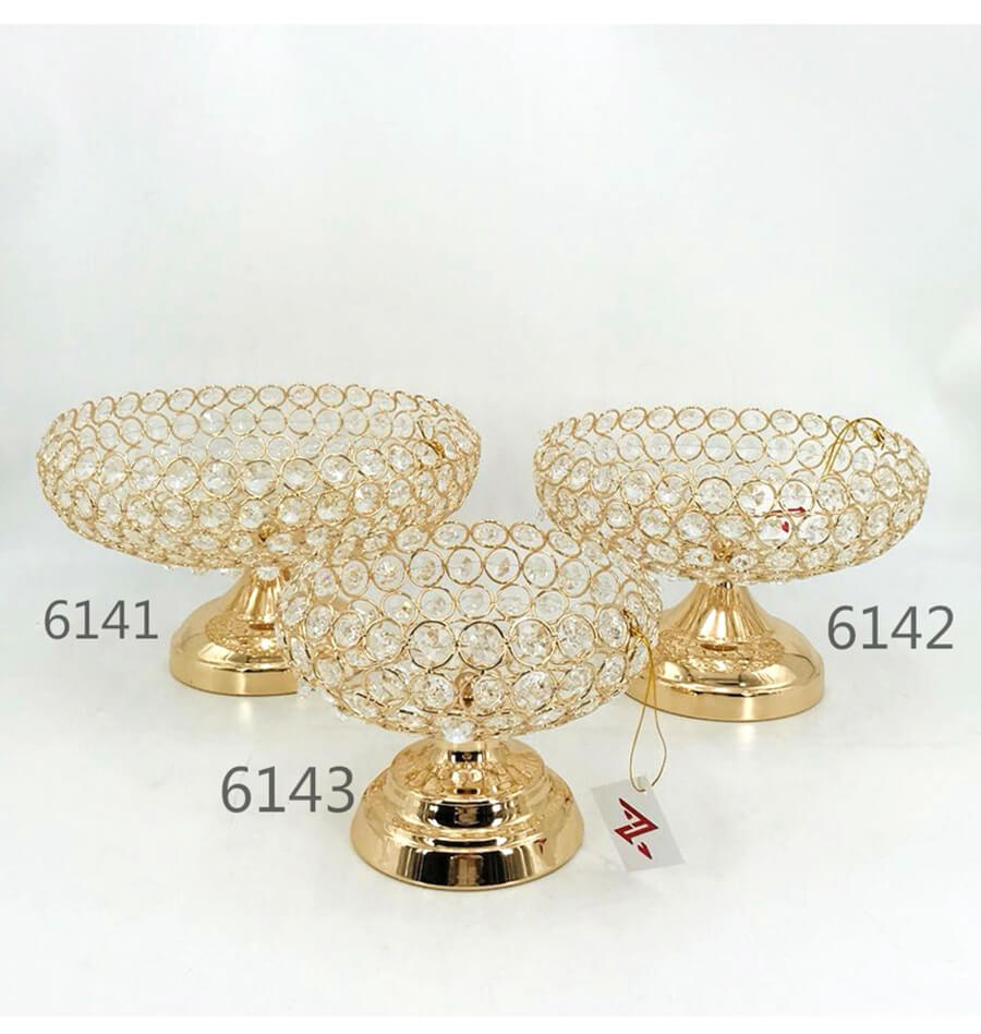 metal crystal fruit plate 6141 6142 6143