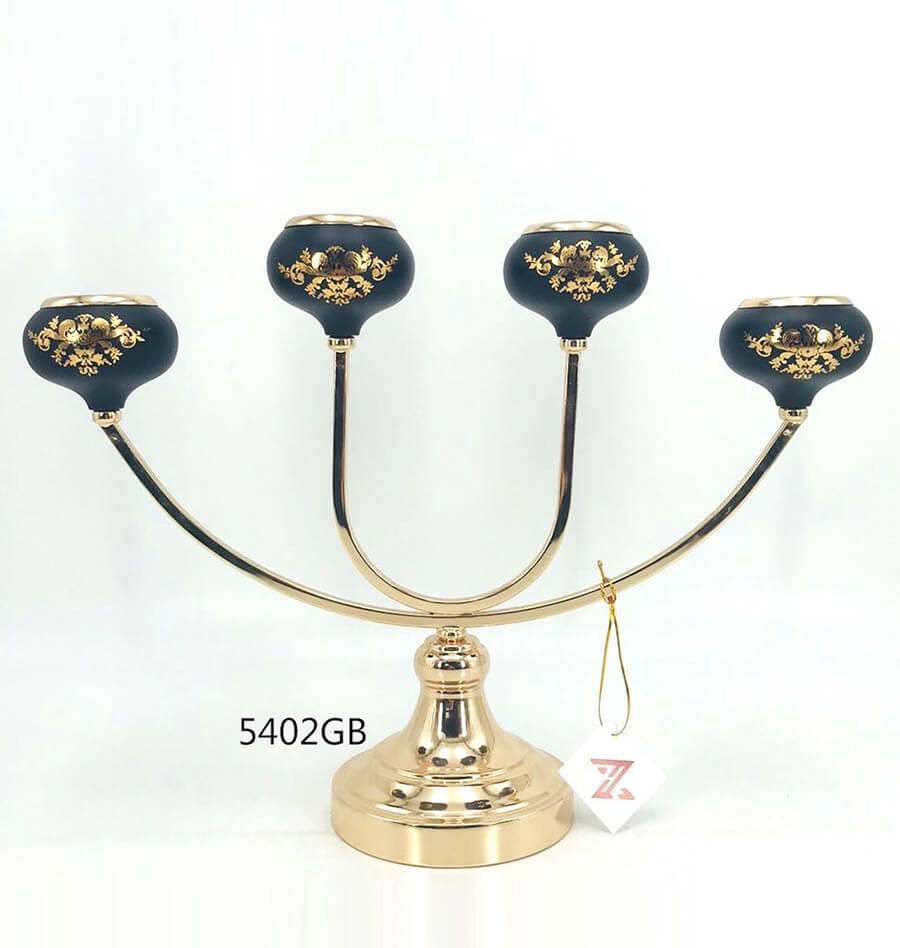 black golden 5402GB metal candle holder