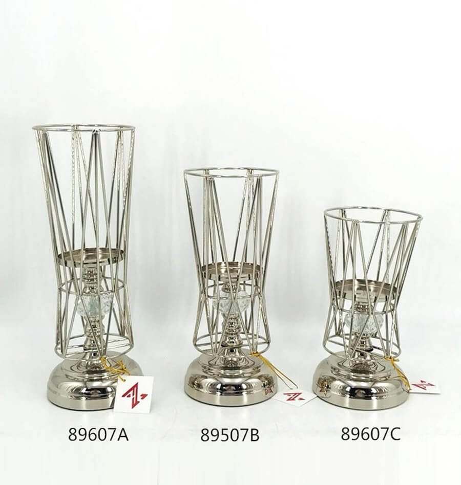 nickel metal candle holder wholesale 89607