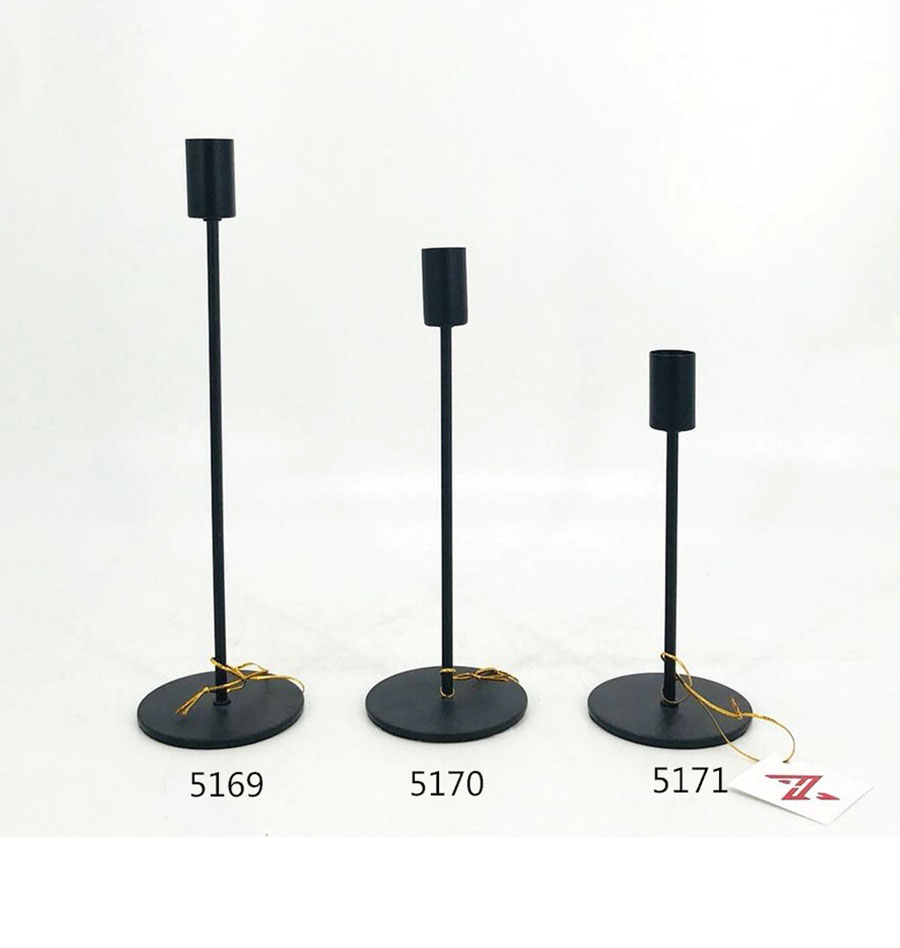 Iron Candle Holder Gold and Black Color 5169 5170 5171