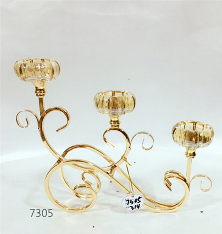 high quality glass candle holder 7305