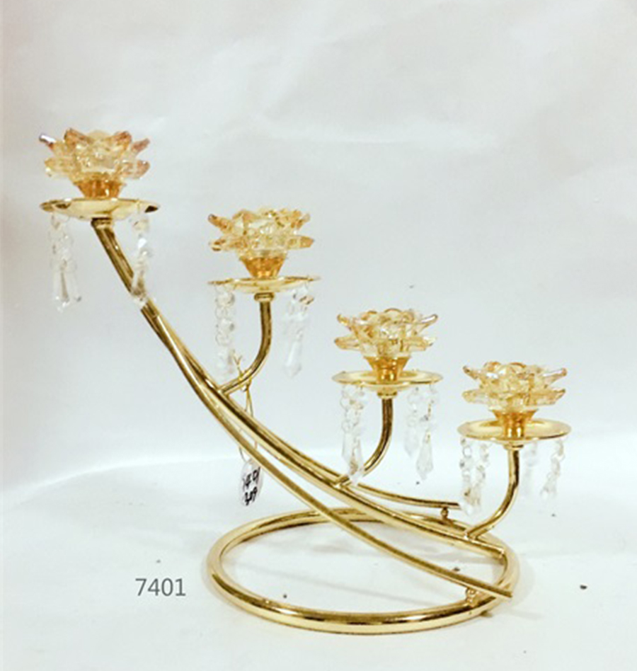 wholesale golden candle holder 7401