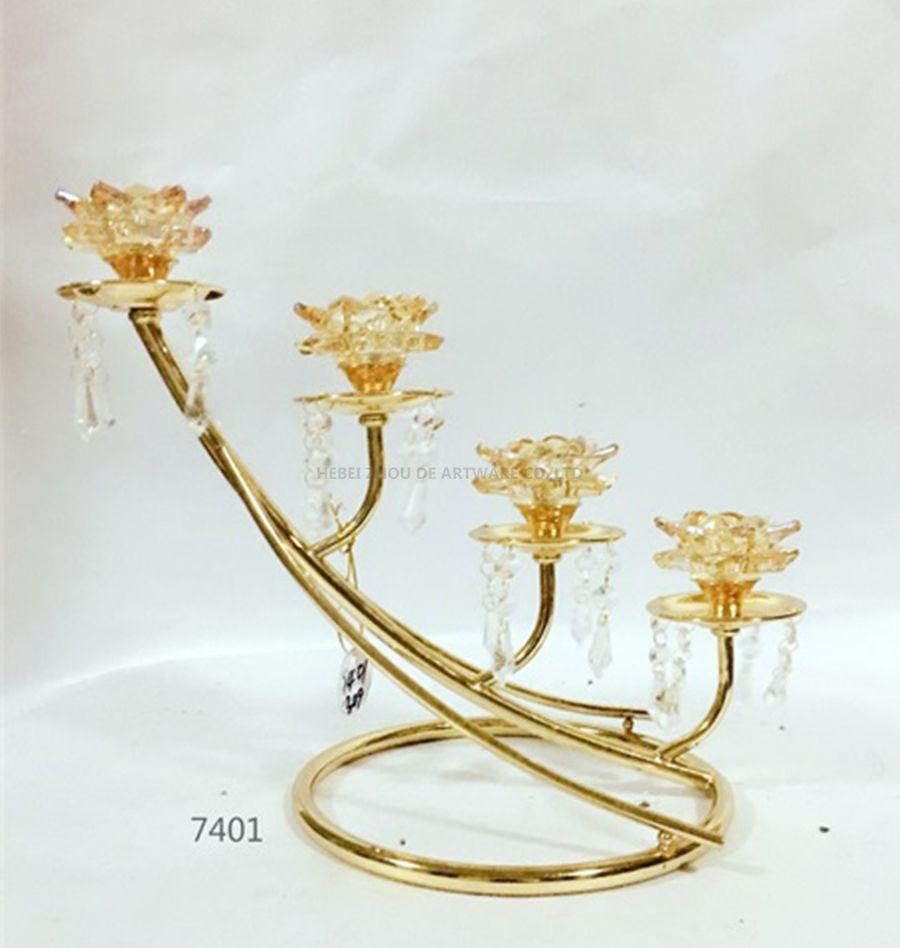 wholesale golden candle holder 7401