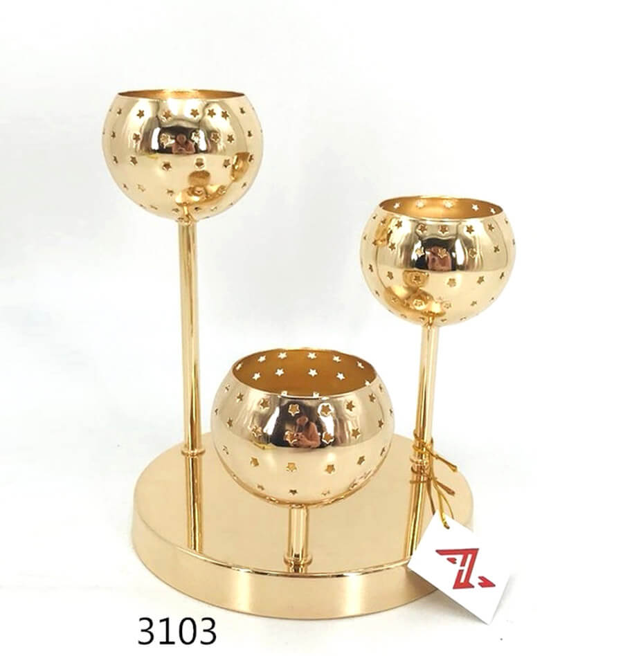 wholesale star ball metal Candle Holder 3013