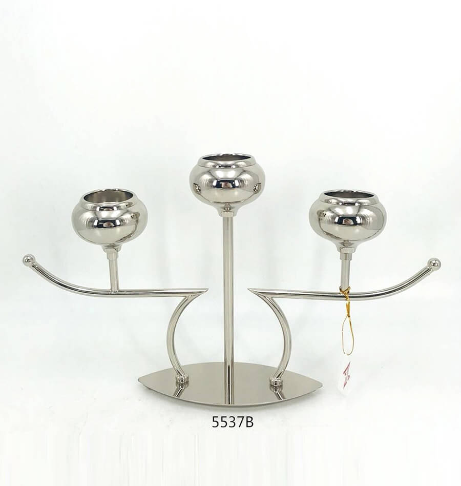 fashion nickel candle holder 5537B