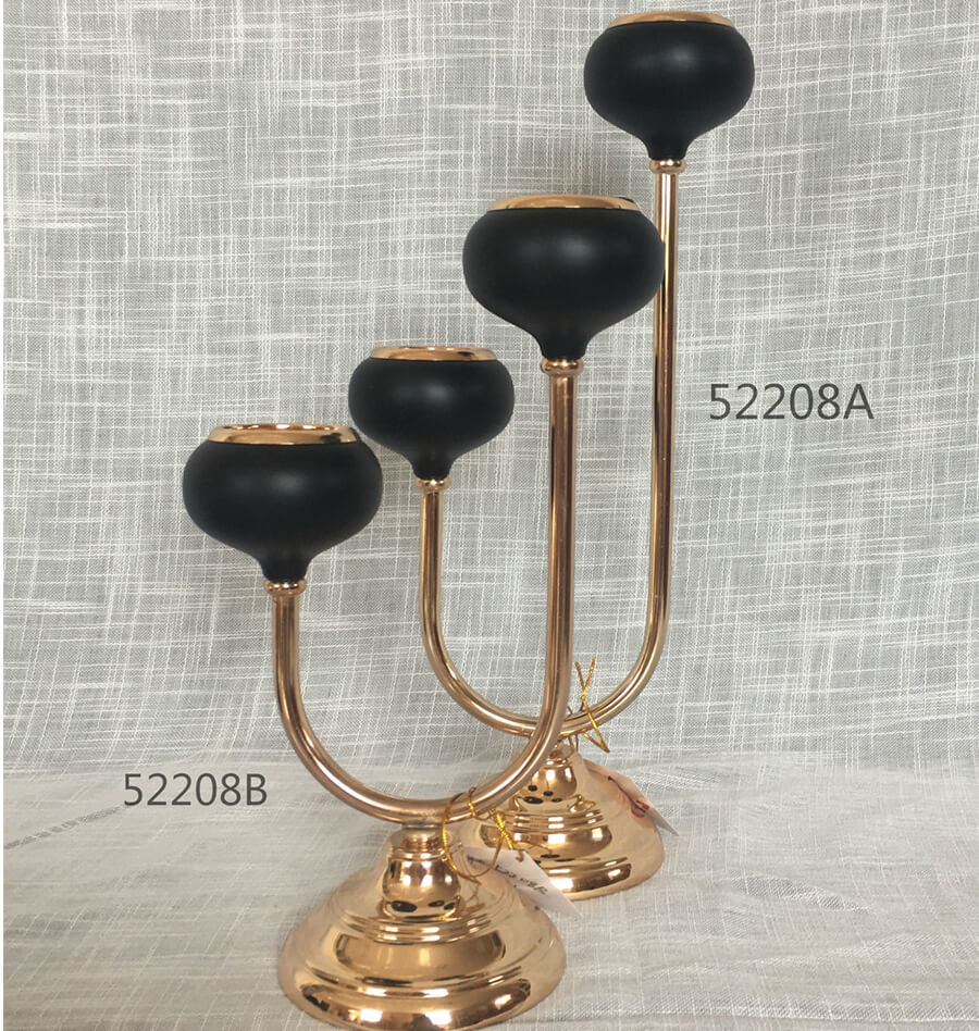 METAL CANDLE HOLDER 52208A 52208B