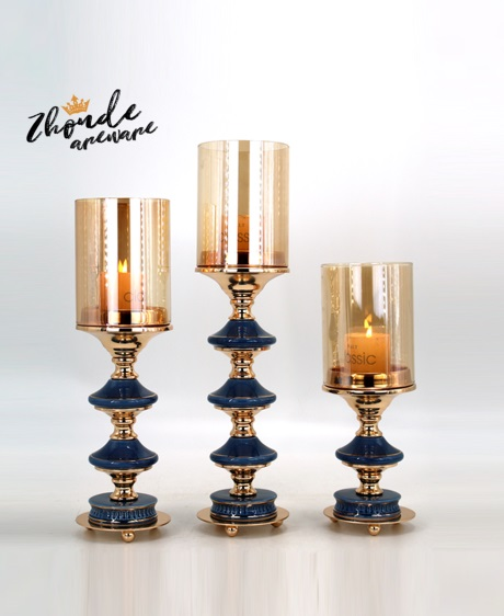ceramic and metal candle holder for decoration 90605