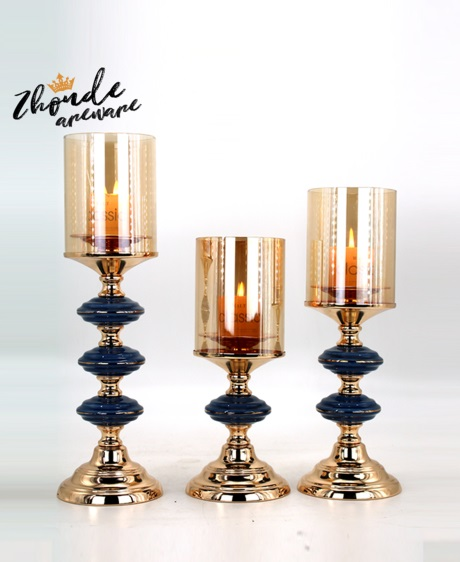 ceramic and metal candle holder for decoration 90607
