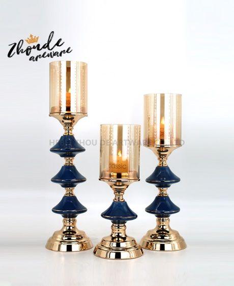ceramic candle holder set 90609