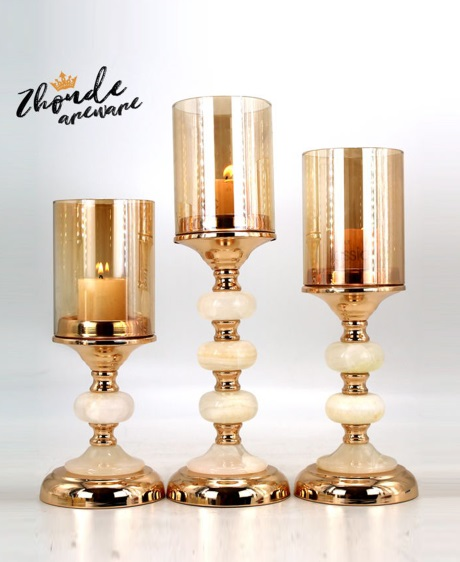 New Simple Style Home Decor gold candle holder 90702