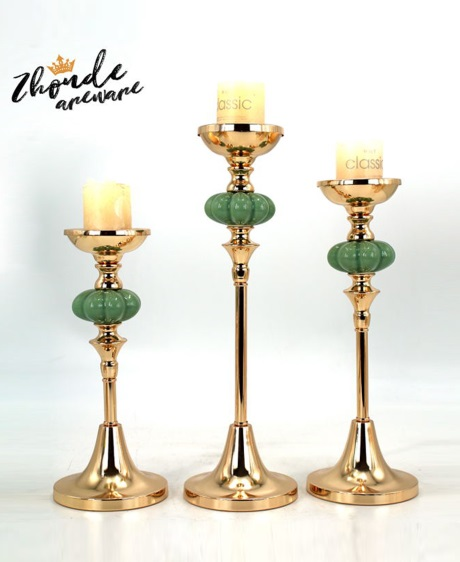 CERAMIC AND METAL CANDLE HOLDER 90538