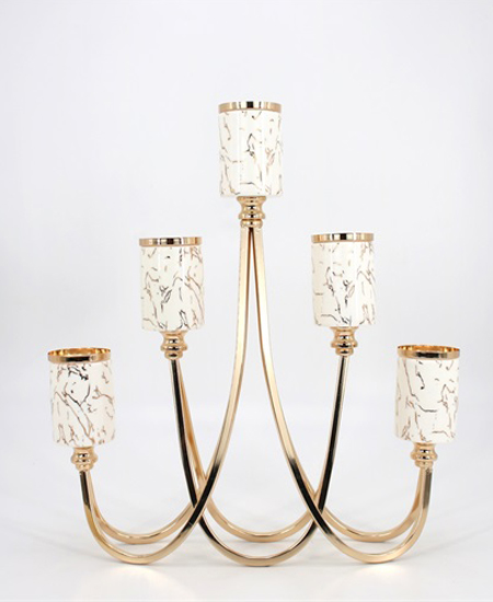 CERAMIC AND METAL CANDLE HOLDER 90901