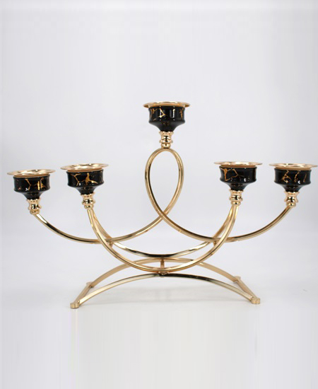 CERAMIC AND METAL CANDLE HOLDER 91103