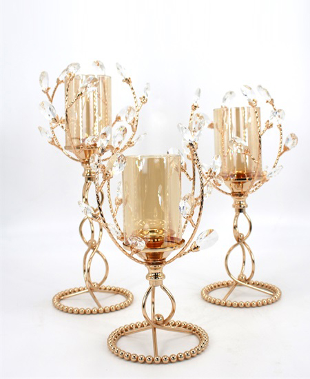 Wedding Candlelight Dinner Props European crystal candle holder 89915