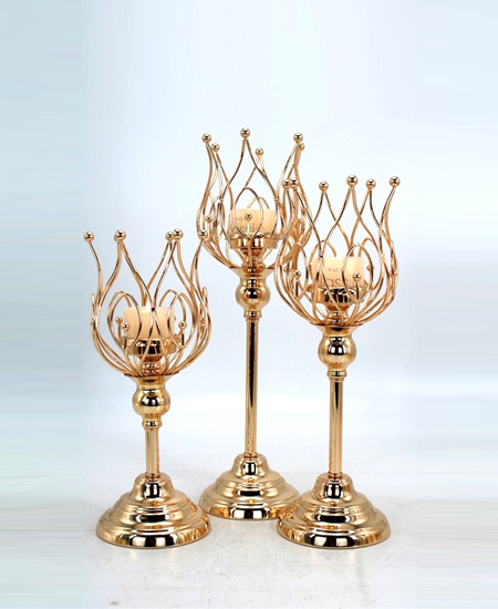 HOT WHOLESALE METAL CANDLE HOLDER FOR HOME DECORATION 91317