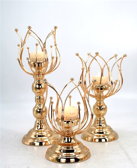 HOT WHOLESALE METAL CANDLE HOLDER FOR HOME DECORATION 91318