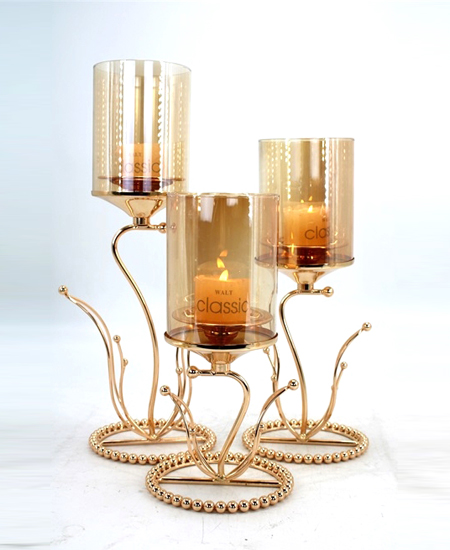 candle holder with glass tube 91320